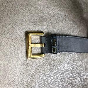 Vintage Escada Gray Suede/LeatherBelt